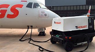 Hobart 4400-Diesel GPU on Aircraft-90CU24C